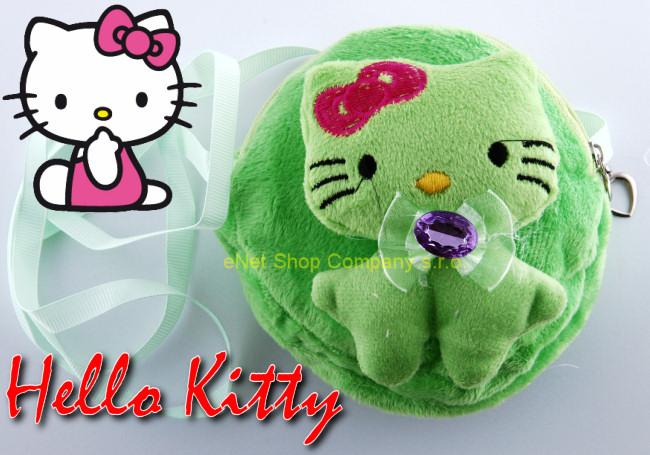 Dětská kabelka Hello Kitty plyš zelená