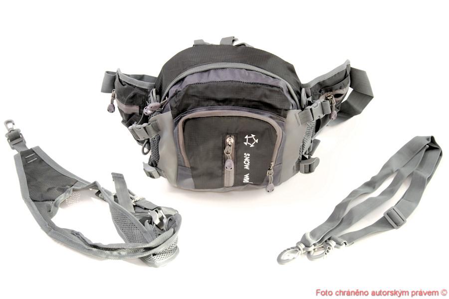 Ledvinka batoh taška na lyže a bězky - šedý
