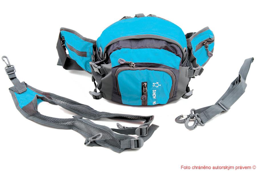 Ledvinka batoh taška na lyže a bězky - modrý