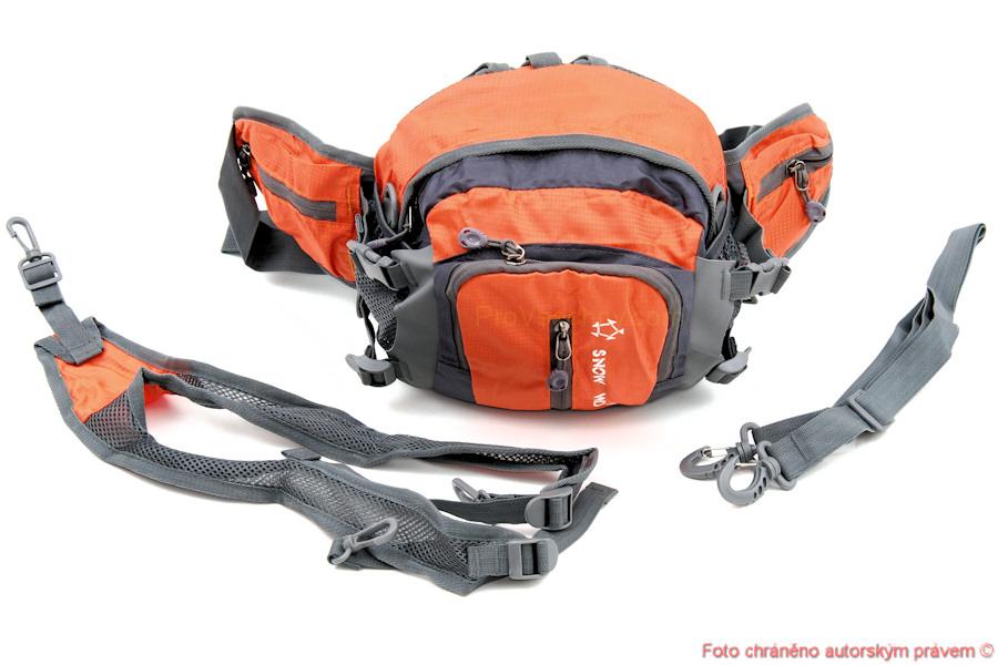 Ledvinka batoh taška na lyže a bězky - oranžový