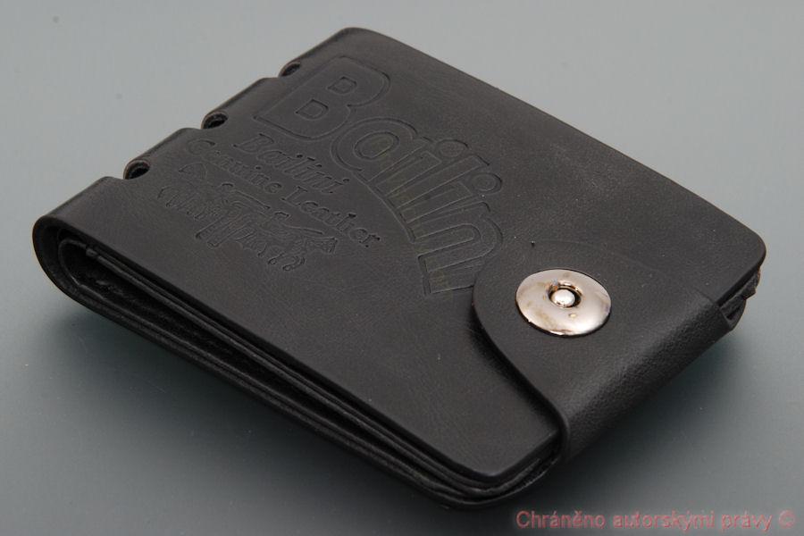 Kožená peněženka Bailini černá