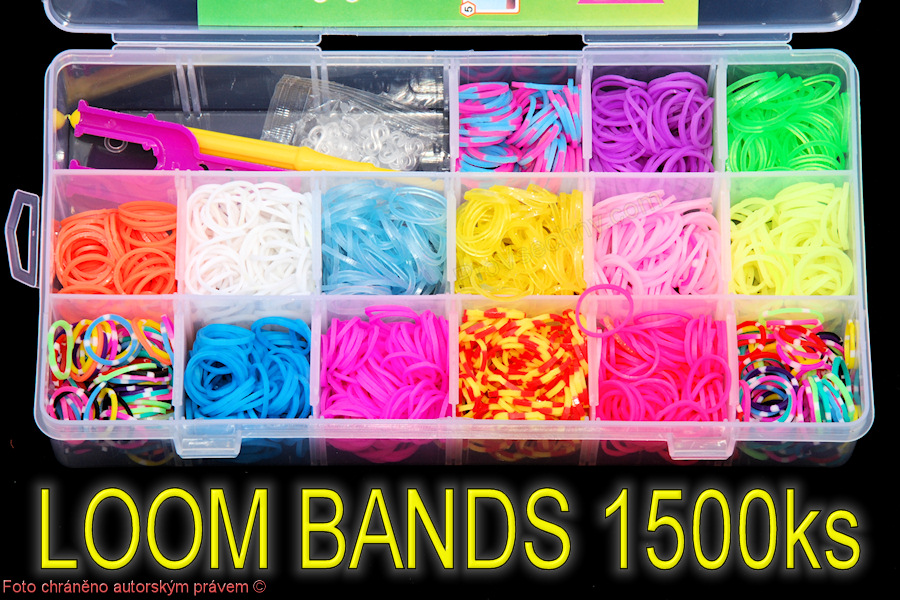 Sada LOOM BANDS 1800 gumiček netoxické
