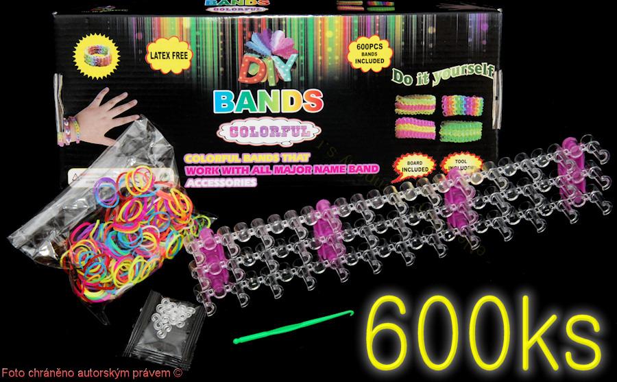 Sada LOOM BANDS 600 gumiček plus přísluš.