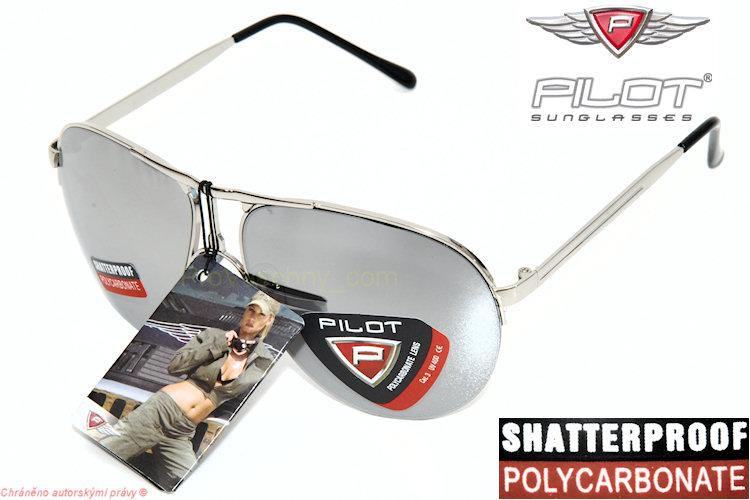 Trendy sluneční brýle Pilot zrcadlovky