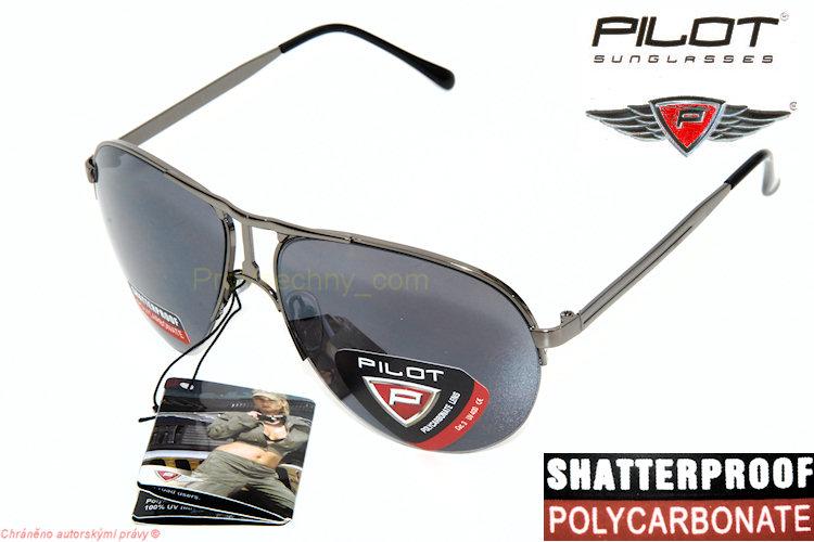 Trendy sluneční brýle Pilot tmavé