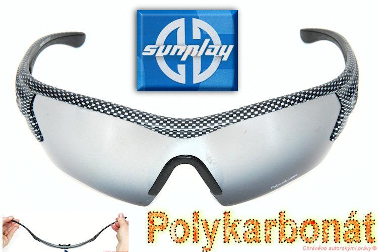 Sportovní brýle SunPlay polykarbonát zrcadl.