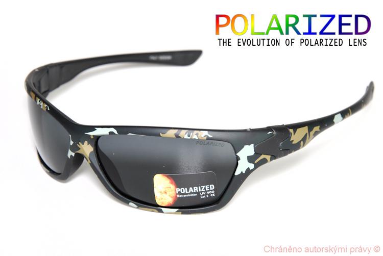 Brýle POLARIZED sport kamuflage černé