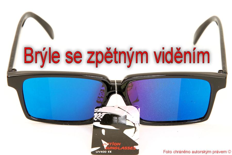 Brýle se zpětným viděním - zrcátkem