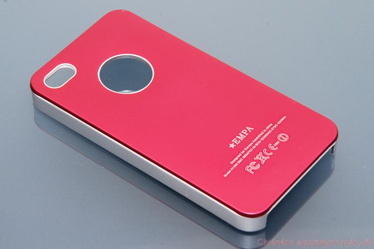 Zadní kryt iPhone 4 červený kovový