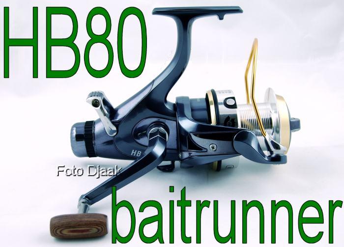 Rybářský Naviják HB80 s 12 plus 1 ložisek a baitrunner!