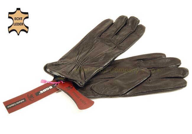 Pánské kožené rukavice z pravé kůže zateplené hnědé XXL - XXXL