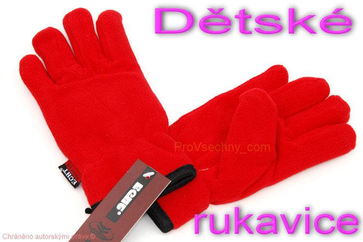 Dětské zimní rukavice červené