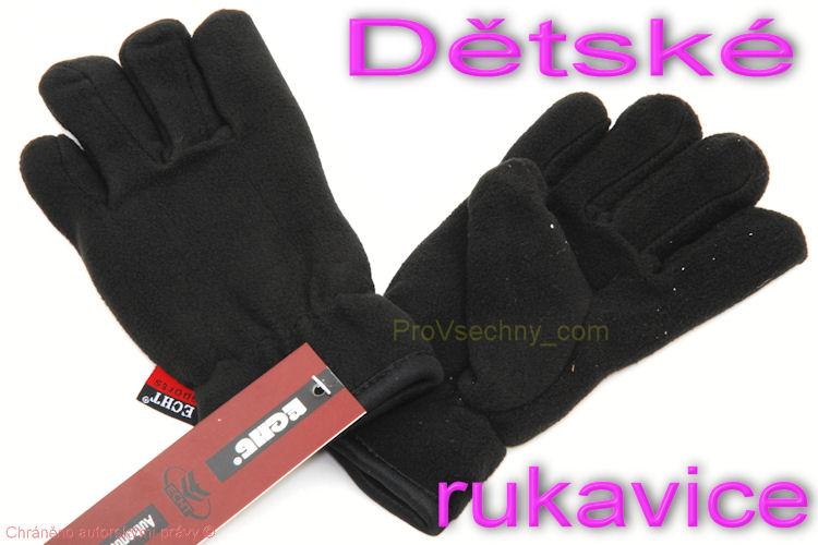 Dětské zimní rukavice černé